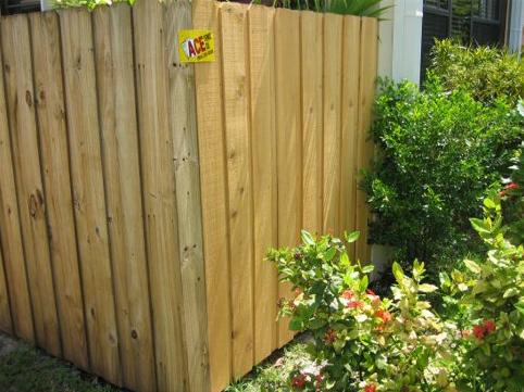 Board on Board Wood Fence Corner