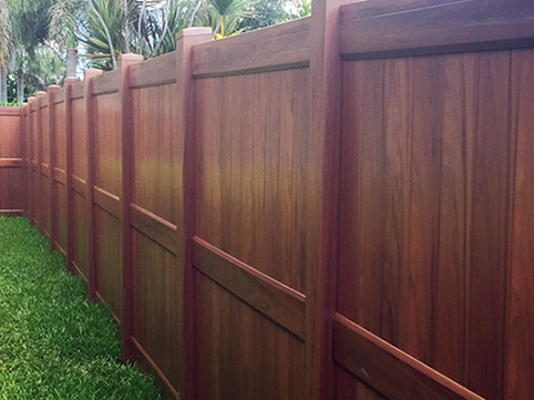 Wood-Look PVC Fence Resized