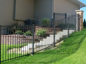 sloped aluminum fence