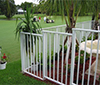 Dark Aluminum Rail Fencing