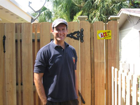Happy Customer with Shadow Box Fence
