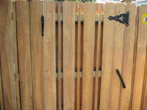 wood fencing door