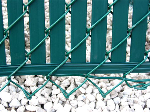 Chain Link Fence Privacy Slats Close Up