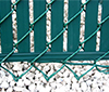 Chain Link Fence Privacy Slats with Gate