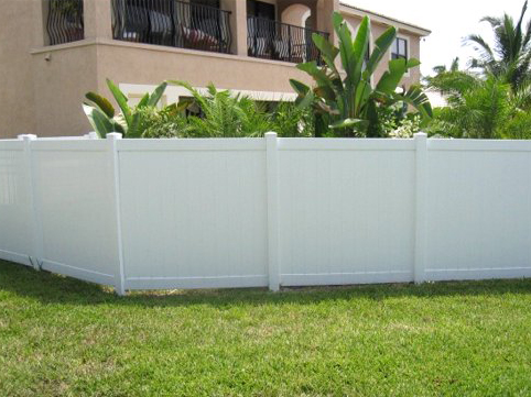 White Privacy PVC Fence