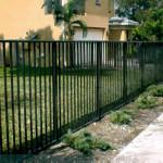 Dark Aluminum Rail Fencing
