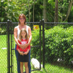 Coated Chain Link Fence with Gate