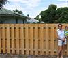 Vertical Shadow Box - Wood Fence Corner
