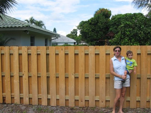 Vertical Shadow Box Fence