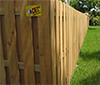 Vertical Shadow Box - Wood Fence Corner
